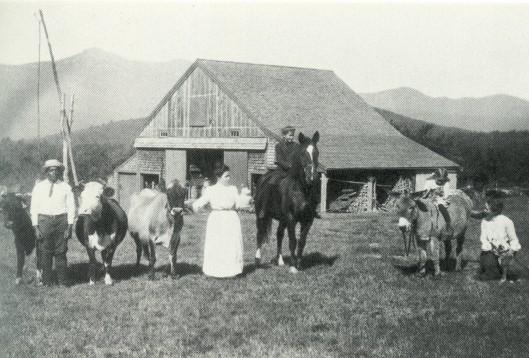 Cummings on a horse at Joy Farm