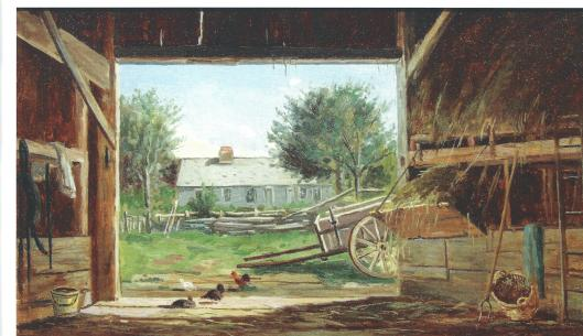 Old Barn in Eaton NH 1878, F.H. Shapleigh